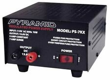 Pyramid PS7KX 5 Amp Heavy Duty DC Linear Power Supply, Fuse Protected