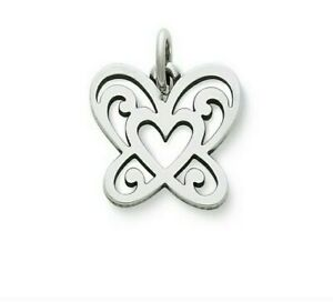 James Avery Sterling Open Butterfly Heart Charm