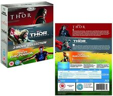 THOR 1-3 (2011 2013 2017): BLU-RAY - Marvel, inc. Dark World + Ragnarok - NEW UK