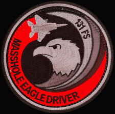 USAF 131st FIGHTER SQ -MASSHOLE EAGLE DRIVER-Barnes ANGB, MASS-  ORIGINAL PATCH