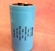 200000uf 15v Aluminum Electrolytic Capacitor - Screw Terminal Mallory  2pc