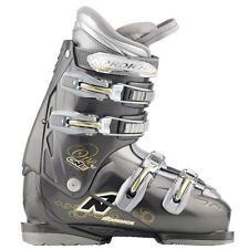 NORDICA ONE 40 WOMENS SKI BOOTS SIZE 24.5 DK GRAY