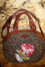 Ed Hardy Womens Purse Sequin Rose Handbag/Shoulder Bag
