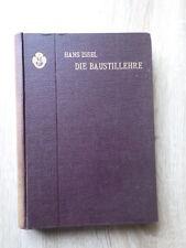 Hans Issel DIE BAUSTILLEHRE Verlag VOIGT Leipzig 1904 Architecture Batiment