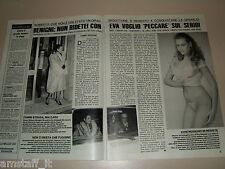 EVA GRIMALDI ROBERTO BENIGNI clipping articolo fotografia foto photo 1987 AS20