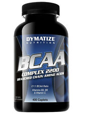 Dymatize BCAA Complex 2200 - 400 Caplets Amino Acid tabs + FREE SHIPPING