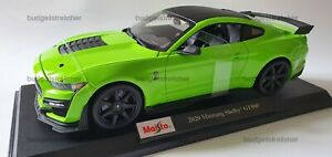 MAISTO 1:18 Scale Diecast Model Car 2020 Ford Mustang Shelby GT500 in Green
