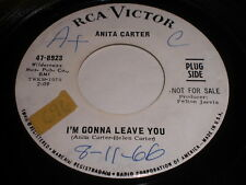 Anita Carter: I'm Gonna Leave You / You Couldn't Get My Love Back 45