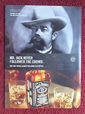 2008 Print Ad Jack Daniels Tennessee Whiskey ~ Mr Jack Never Followed the Crowd