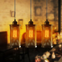 Vintage Industrial Ceiling Lamp Edison Chandelier Pendant Light Hanging     W