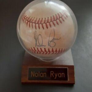 Nolan Ryan Autographed Baseball HOF Pitcher Texas Rangers Mets Angels Astros