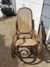 Vintage Thonet Style Bentwood Rocker Rocking Chair Bent Wood Wooden