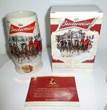 2014 Budweiser Holiday Stein - Christmas Beer Mug from Annual Series 3 YEARS AGO