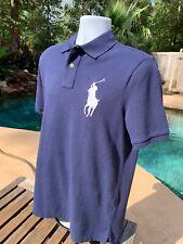 POLO RALPH LAUREN Mens Mesh Big Pony Polo Shirt - XL Navy NEW