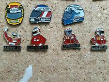 Pin's badges lot de 7 pins casque pilotes De Senna Prost Alesi Berger
