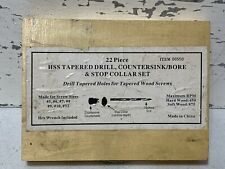 Vintage 22 Piece Hss Tapered Drill Countersinkbore Amp Stop Collar Set3d8