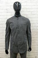 Manuel Ritz Giacca da Uomo Taglia L Cappotto Grigio Giubbotto Jacket Man Casual