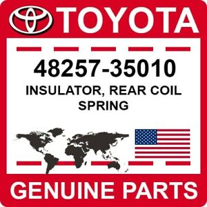 48257-35010 Toyota OEM Genuine INSULATOR, REAR COIL SPRING