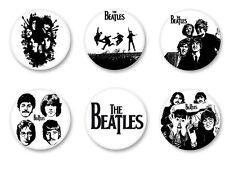 Lot Pack Badge Button Ø25mm The Beatles Rock UK Lennon McCartney Harrison Starr