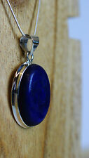 Lapis Lazuli Pendant 925 Sterling Silver Ethically Sourced