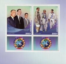 Congo 2017 MNH Apollo 1 Grissom White Chaffee 2v M/S Space Stamps