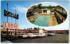 YAKIMA, Washington  WA   Roadside  CAPRI LODGE  c1960s Cars   Postcard