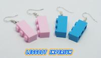 LEGO Dangle Brick Earrings - Pink Azure - FREE POST