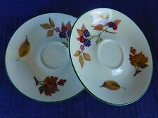Royal Worcester Evesham Vale SAUCERS (set of TWO) 2  ENGLAND have more items