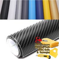 Premium 4D Gloss Carbon Fiber Vinyl Wrap Film Sticker Bubble Free Air Release