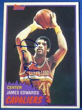 JAMES EDWARDS autograph signed 1981-82 Topps Cleveland Cavaliers