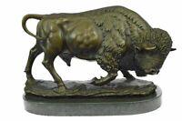 "American Buffalo (Bison) Bronze Sculpture by Antoine Barye 10"" x 16"""