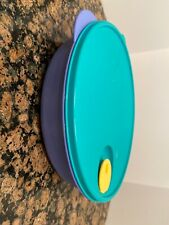 Tupperware Crystalwave Microwave Safe Bowl Divided Bowl Blue And Turquoise