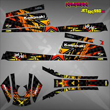 kawasaki 550 sx jet ski wrap graphics jetski decal sticker kit rockstar energy