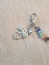 Dragon Reiki Healing Charm for Cat Pet Collar with Bell (Anxiety Mix)