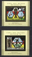 s5177) GUINEA EC. 1974 MNH** WC Football -CM Calcio S/S X2 GOLD WINNER IMPERF
