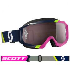 Scott Mx Hustle Gafas de motocross Asimétrico Azul/Rosa Plateado COMPATIBLE