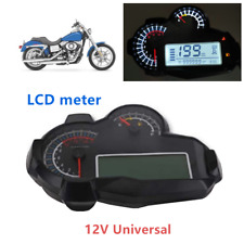 1PCS Universal Motorcycle LCD Instrument Carburetor General Modified Speedometer