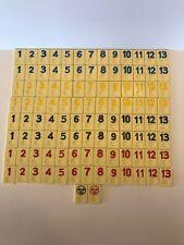 Complete Set 106 Rummikub Replacement Tiles Pressman Red Black Blue Yellow 1990
