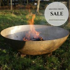*SALE* 60cm Mild Steel Fire Pit Burner with 1 x FREE Pouch of Eco Fire Lighters