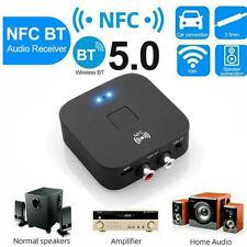 Bluetooth 5.0 Empfänger 3,5mm AUX Hifi Sender Audio Transmitter Adapter NFC DE