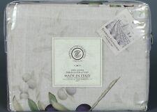"TESSITURA TOSCANA TELERIE FIRENZE AIDA 100% Linen Tablecloth 63"" X 90"" ITALY"