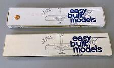 2 Easy Built Models Balsa Wood Model Airplane Kit Rubber Power: FF45 & FF46