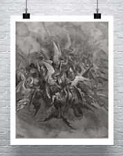 Storming Fury 1866 Gustave Dore Engraving Fine Art Canvas Giclee Print 24x29 in.