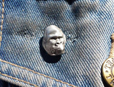 Gorilla Ape Pewter Pin Badge