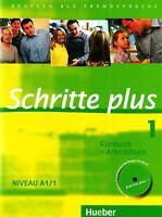 Hueber SCHRITTE PLUS 1 Kursbuch + Arbeitsbuch Niveau A1/1 mit CD @NEW@