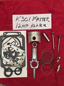 MASTER REBUILD KIT FOR 12HP Kohler K301 Valves+ tune up