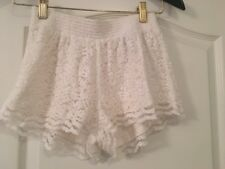 Womens Junior Hollister Lace White Shorts Size XS