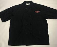 Lone Star Steakhouse Amp Saloon Chef Jacket Coat Work Uniform Black Red Size L