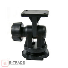 "1/4"" Hot Shoe Mount Adapter With Adjustable Angle Pole Camera to LED Lamps CN-"