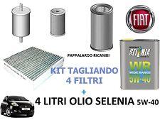 KIT TAGLIANDO 4 FILTRI + 4 LITRI OLIO SELENIA FIAT BRAVO II 1.6 Multijet Diesel